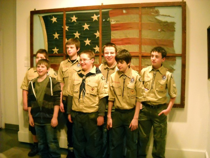 civil war flag scouts